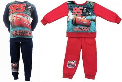 Boys Disney Pixar Kids Cars Lightning Mcqueen Tracksuit Joging Outfit Set Jumper
