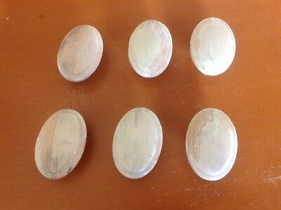 157 VTG Large Wooden Oval Knobs Shabby Chic! Set Of 2, 3 Sets Available