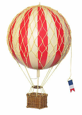 AUTHENTIC MODELS Travels Light True Red Hanging Hot Air Balloon 18 cm