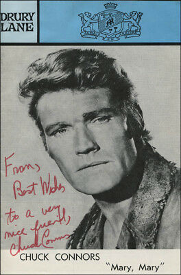 Chuck Connors - Inscribed Show Bill Signed