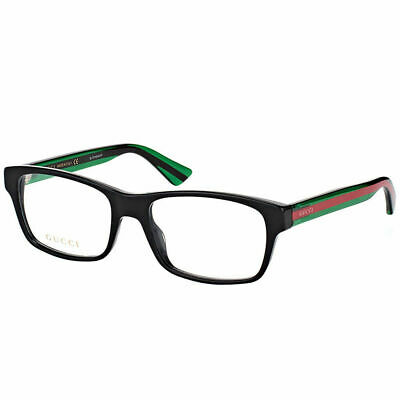 NEW AUTHENTIC* GUCCI GG0006O 006 BLACK EYEGLASS FRAME, SIZE 55mm ...