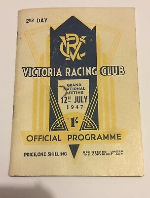 Vintage Grand National 2nd Day 12th July 1947 Horse Racing Programme Vrc