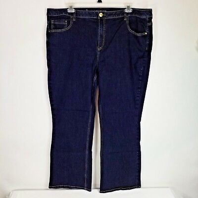 Lane Bryant Womens Dark Wash Genius Fit Boot Cut Stretch Denim Jeans Womens 24W