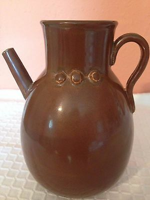 Vintage Asian Pot With Long Spout. Fine,smooth Copper Color Surface. 6 1/2''