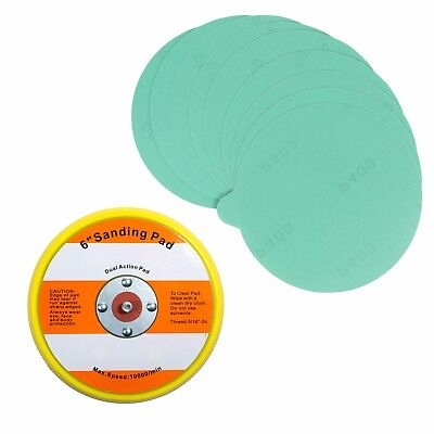 "6"" PSA Sanding Backup Pad with 10 pcs 400 grit PSA Sand Paper"