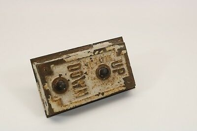 Vintage Elevator Switch Brass Or Bronze cast iron Up/Down Panel