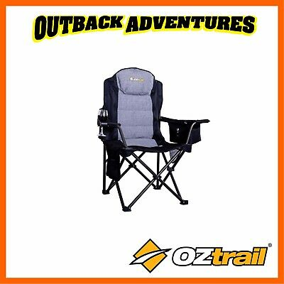 Oztrail Big Boy Camping Arm Chair Strong 220Kg Weight Rating Large Weight Rated
