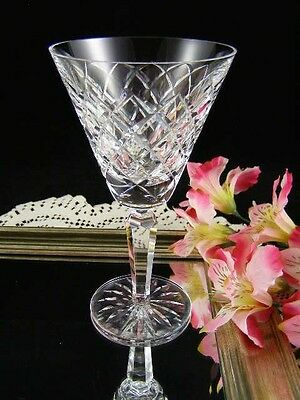 Waterford Crystal TYRONE Water Goblet Cut Criss Cross Vintage Old Mark 8oz.