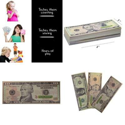 Prop Money Dollar Pretend Play Money Set For Monopoly 30 Bills US One-Sided Kids