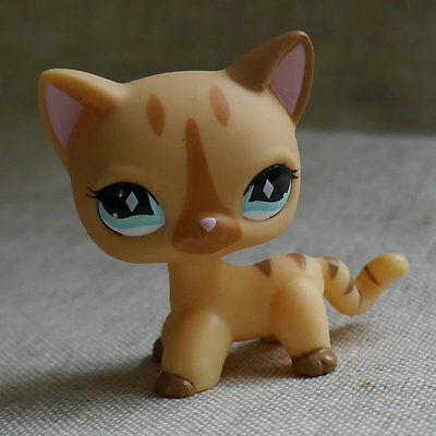 LPS #886 Action Figure gift Light brown short hair cat kitty LITTLEST PET TOY 2""
