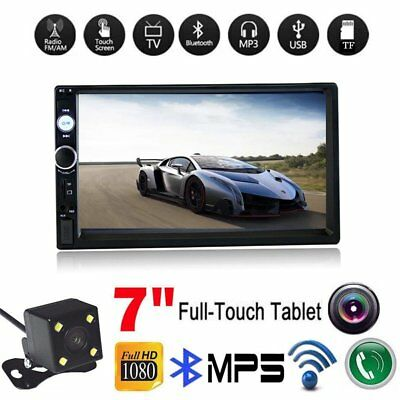 "2DIN 7"" HD 1080P Car Stereo Radio MP5 Player Bluetooth Touch Screen Rear Camera"