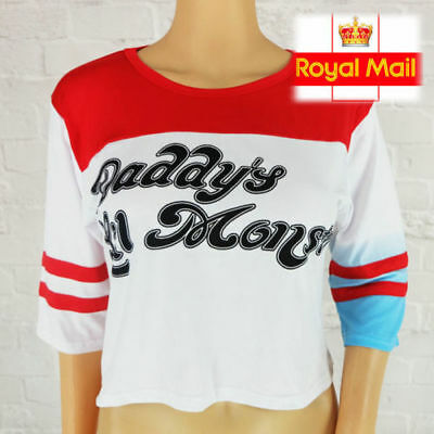 Hot Harley Quinn T-shirt Suicide Squad Daddy's Lil Monster Inspired top Joker