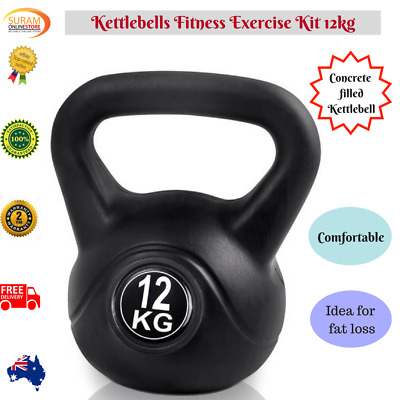 Kettlebells Workout Fitness Weight Training Home Gym Body Strength Exercise Kit