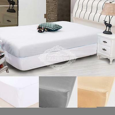 "Deep 10"" Mattress Protector Waterproof Fitted Sheet Cover Topper Super King Size"