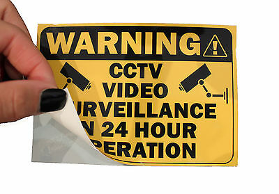 4 X CCTV Sticker Decal sign security surveillance warning notice camera monitor