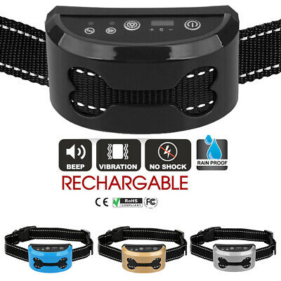 Auto Anti Bark Stop Barking Dog Training Collar Rechargeable Remote Non-Shock