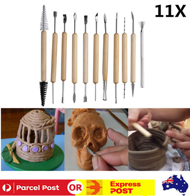 11Pcs Carvers Clay Sculpting Carving Pottery Tool Modeling Sculpture Craft DIY