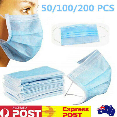 Dental Disposable Medical Dust Mouth Surgical Face Mask Respirator 50/100/200pcs