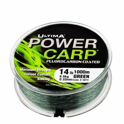 Ultima Power Carp Flurocarbon Coated Line Green