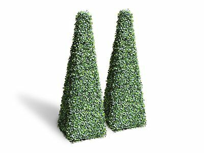 New Artificial Topiary Conical English Box 150cm - Pair ships to NZ only