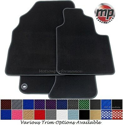 Perfect Fit Black Carpet Car Mats Tailored for Vauxhall Corsa C 00-06 + Fixings