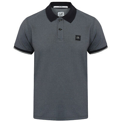 C.p Company Regular Fit Contrast Short Sleeve Polo Shirt In Xl