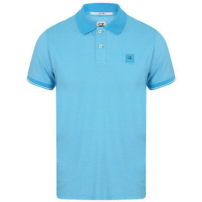 C.p Company Regular Fit Contrast Short Sleeve Polo Shirt In L