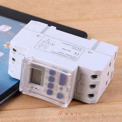 Digital LCD Programmable Timer AC 220V 16A Control Relay Switch DIN Rail Mount
