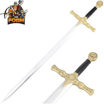WarFoam Padded Mason Knights Templar Crusader Sword Costume Prop Cosplay