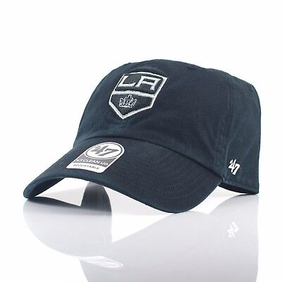 47 Brand NHL 'Clean Up' - LA Kings Black Curved Peak Adjustable Cap