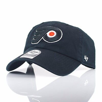 47 Brand NHL 'Clean Up' - Philadelphia Flyers Black Curved Peak Adjustable Cap
