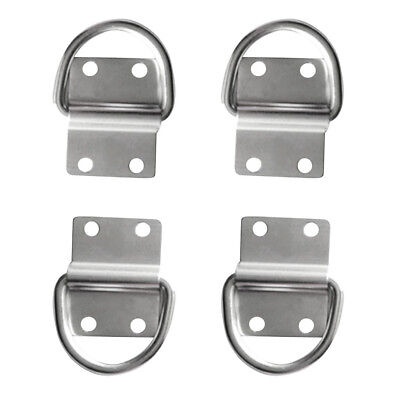 4Pcs Boat Trailer Lashing Strap D Ring Tie Down Hook Rope Cleat Anchor Point