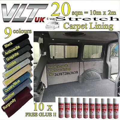 20 sqm CAMPER VAN CARPET LINING STRETCH VW T1 T2 T5 T6 TRANSIT SPRINTER CARAVAN.