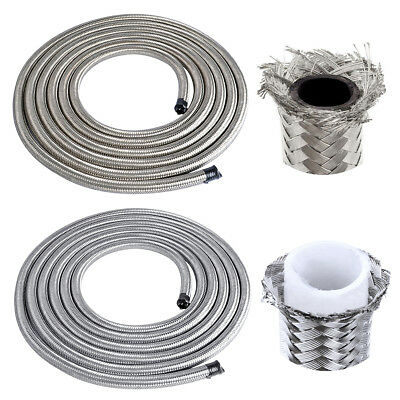 Braided Rubber Fuel Line Hose Stainless Steel PTFE Teflon Hose for Oil/Gas/Fuel