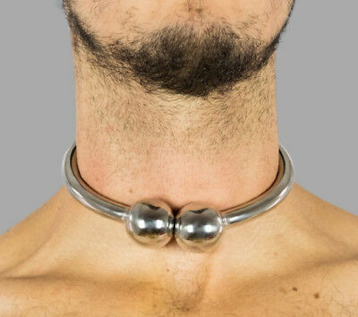 Collar with Ball Clasp - Steel Fetish Collar / 1539/S01