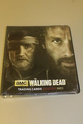 The AMC Walking Dead Trading Cards Season Three Part 2 Binder - New Sealed