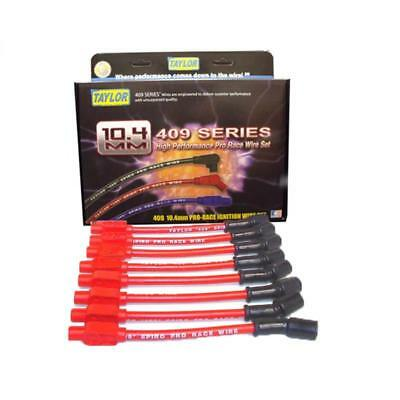 Taylor Spark Plug Wire Set 79205; 409 Pro Race 10.4mm Red Straight for Chevy V8