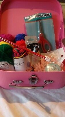 Knitting kit complete with storage box