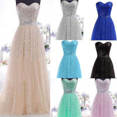 Formal Long Evening Ball Gown Party Prom Bridesmaid Dinner Dress Size UK Seller!