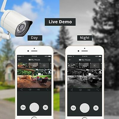 Home Security Camera Bundle Set 2 Yard Out Front Door Wifi Security Video Cams