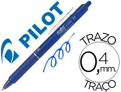 12 Boligrafos Pilot Frixion Clicker Borrable 0,7 Mm Color Azul 53683