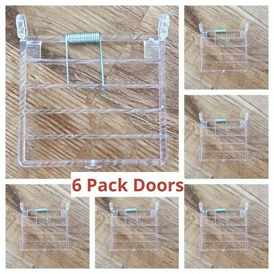 6x Bird Cage Door Replacement /Accessories With Vertical Wires for Aviary /Cages