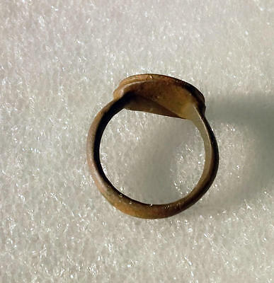 QUALITY ANCIENT ROMAN BRONZE RING for collection