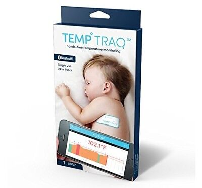 TempTraq Continuous Thermometer Monitoring Tracker Bluetooth 1 Patch 07/18+