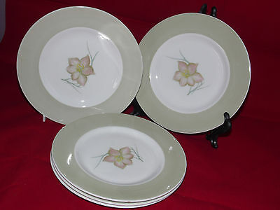 "5 x SUSIE COOPER Day Lily 6.5"" side Plates Vintage Good condition (273B)"