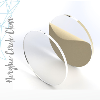"""Clear Acrylic Circle Blank 1/8"""" Thick- (Pack 25-50-100) Select Size"""