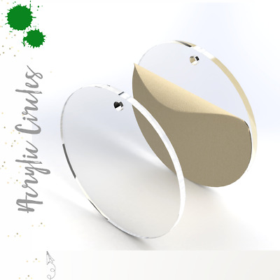 """Clear Acrylic Circle Blank With Hole 1/8"""" Thick- (Pack 25-50-100) Select Size"""