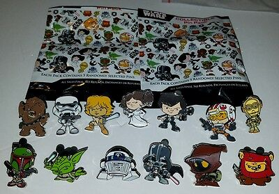 Disney STAR WARS Cuties Mystery Pins COMPLETE SET of 13 New FREE SHIPPING