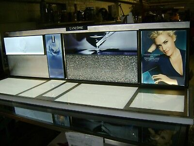 Lancome Illumimated  Retail Silver  / Cosmetics / Jewelry Counter Top Display