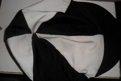 Riding Hat Silk Cover For Jockey Skull Caps One Size  - Black & White Quarters